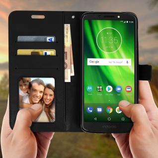 Flip Stand Cover Brieftasche & Standfunktion Motorola Moto G6 Play/E5 - Schwarz