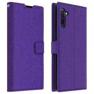 Flip Cover Stand Case Brieftasche & Standfunktion für Galaxy Note 10 - Violett