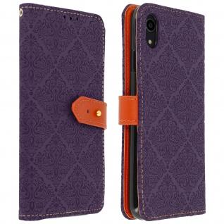 Flip Kunstleder Cover Geldbörse im Orient-Stil für Apple iPhone XR - Violett