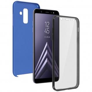 Schutzhülle für Samsung Galaxy A6 Plus, Vorder- + Rückseite ? Blau