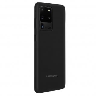 Original Samsung Soft Touch Cover Silikon für Samsung Galaxy S20 Ultra - Schwarz