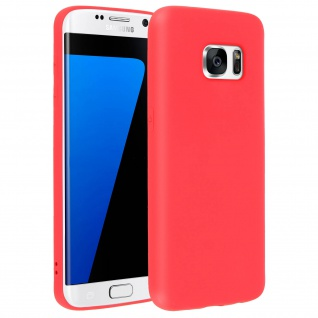 Forcell Samsung Galaxy S7 Edge Soft Touch Silikonhülle, soft case - Rot