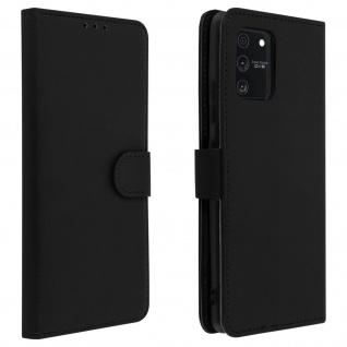 Samsung Galaxy S10 Lite Flip-Cover mit Kartenfächern & Standfunktion - Schwarz
