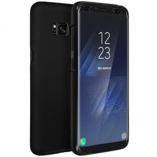 Schutzhülle für Samsung Galaxy S8, Vorder- + Rückseite ? Schwarz