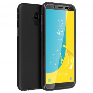 Schutzhülle für Samsung Galaxy J6, Vorder- + Rückseite ? Schwarz