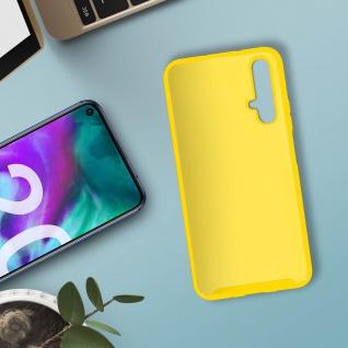 Halbsteife Silikon Handyhülle Honor 20, Huawei Nova 5T, Soft Touch - Gelb - Vorschau 3