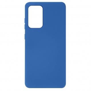 Halbsteife Silikon Handyhülle für Samsung Galaxy A72, Soft Touch ? Blau