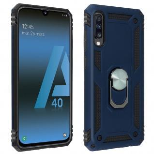 Hybrid Handyhülle mit Ring Halterung für Samsung Galaxy A70 ? Dunkelblau
