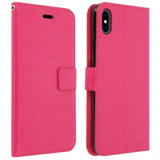 Flip Cover Stand Case Brieftasche & Standfunktion für Apple iPhone XS Max - Rosa