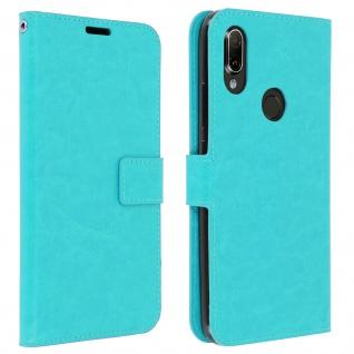 Flip Stand Cover Brieftasche & Standfunktion für Xiaomi Redmi 7 - Türkisblau