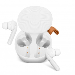 Kabellose Sport-Kopfhörer IPX6 zertifiziert 30Std. Akkulaufzeit - Weiß