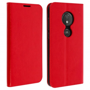 Business Leder Cover, Schutzhülle mit Geldbörse Motorola Moto G7/G7 Plus - Rot