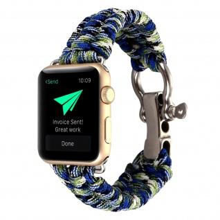 Apple Watch 38/40 mm Rope Style Armbanduhr, Retro Armbanduhr ? Blau/Grün