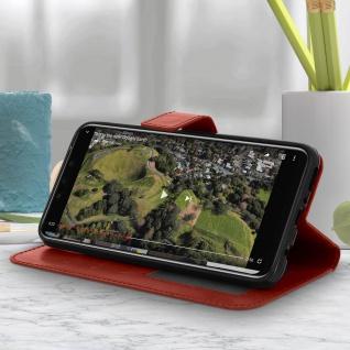 Flip Stand Cover Brieftasche & Standfunktion Huawei Mate 20 lite - Braun - Vorschau 4