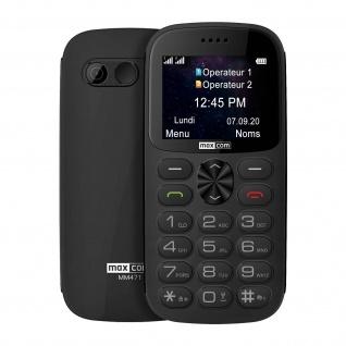 Senior Handy Dual Sim SOS-Taste 1400mAh 14Std. Akkulaufzeit MM471 Maxcom - Grau - Vorschau 2