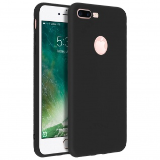Forcell Apple iPhone 7 Plus, 8 Plus Soft Touch Silikonhülle, soft case - Schwarz