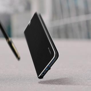 Samsung Galaxy A50 / A30s Klappetui, Cover mit Carbon Design & Ständer ? Schwarz - Vorschau 5