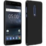 Schutzhülle aus Silikon für Nokia 5 - Schwarz Matt