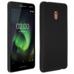 Kratzfeste Schutzhülle aus Silikon für Nokia 2.1 - Schwarz Matt