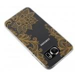 Hartschale mit Spitzen Motiv für Samsung Galaxy S6 - Gold