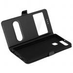 Ultradünne Doppel-Fenster Flip-Schutzhülle für Huawei P9 - Schwarz