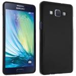 Flexible Schutzhülle aus Silikon für Samsung Galaxy A5 - Schwarz