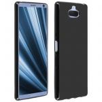 Flexible kratzfeste Schutzhülle aus Silikon für Sony Xperia 10 - Schwarz