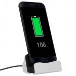 Smartphone Ladestation Aufladen & Synchronisierung USB-Typ C Anschluss - Silber