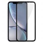 Displayschutzfolie aus gehärtetem Glas für iPhone XR, 0.33mm Folie - Schwarz