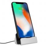 iPhone Ladestation Aufladen & Synchronisierung mit iPhone/iPad Anschluss- Silber