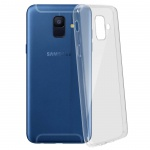 Samsung Galaxy A6 Schutzhülle Silikon ultradünn (0.30mm) - Transparent