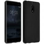 Flexible Schutzhülle aus Silikon für Nokia 6 - Schwarz