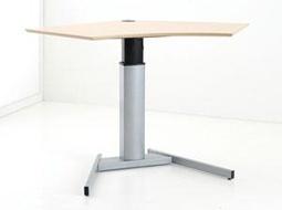 Schreibtisch elektrisch höhenverstellbar Conset Elektro Single 2 silber Auswahl Farbe Optionen