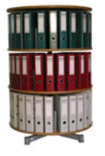 Drehsäule für Ordner RFF 81 cm 3 Etagen gesamt drehbar Buche