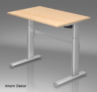 Schreibtisch elektrisch höhenverstellbar Hammerbacher Maxi 120 x 80 cm Auswahl Farbe Optionen