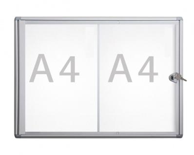 Schaukasten MLG Slim Extra Format 2 x DIN A4 oder A3 quer
