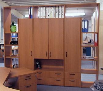 Büro Schrankwand Pendo Multi 249 x 44 x H 221 cm 6 OH Auswahl Farbe Optionen