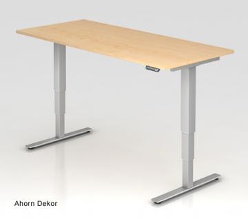 Schreibtisch Hammerbacher XD-Serie Elektro 200 x 100 cm Ahorn Dekor