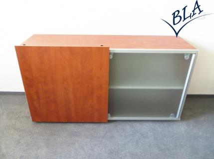 Schiebetüren-Büro Sideboard Expendo Line Exklusiv 160 cm 2 OH Glas Auswahl Farbe Optionen