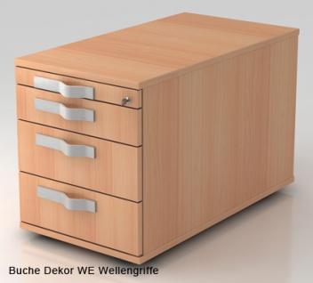 Schreibtischcontainer Hammerbacher Solingen 3S Tiefe 80 cm Auswahl Farbe Optionen