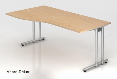 Schreibtisch Hammerbacher N-Serie 180 x 100 - 80 cm Ahorn Dekor