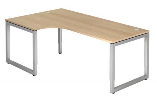 L-Schreibtisch Hammerbacher R-Serie 200 x 120-80 cm Eiche Dekor