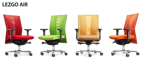 Bürosessel LFF Lets Go Air Ergo Top Netz Ergo Top Auswahl Farbe Optionen
