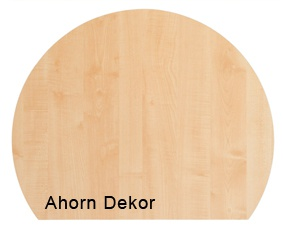 Besprechungsanbau Hammerbacher 100 cm rund Q-Serie Ahorn Dekor
