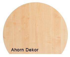 Besprechungsanbau Hammerbacher 100 cm rund R-Serie Ahorn Dekor