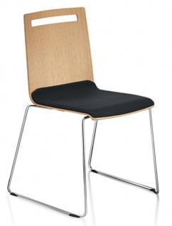 Konferenzstuhl Sedus Stoll Mieting Kufengestell Furnier Sitzpolster Auswahl Farbe Optionen