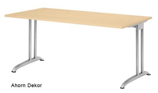 Schreibtisch Hammerbacher B-Serie 160 x 80 cm Ahorn Dekor
