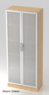 Büroschrank Hammerbacher Ulmer Sofit S 5OH Glastüren 80 x 42 x 201 cm Farbauswahl