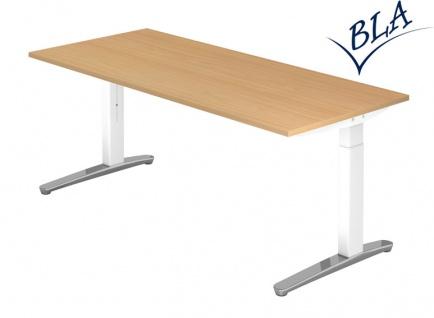 Schreibtisch Hammerbacher XB Elektro Aktiv 200 x 100 cm Buche Dekor weiss Po