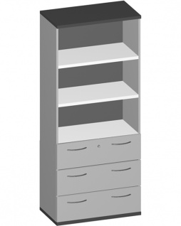 Schubladen-Büroregal Pendo Vari Edo 5 OH 3S 100 x 189 x 44 cm Auswahl Farbe Optionen